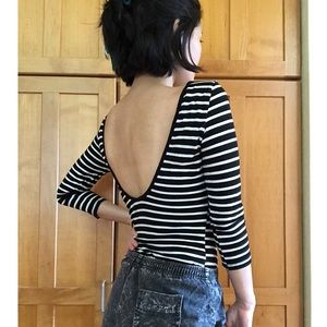Low Back Striped Top